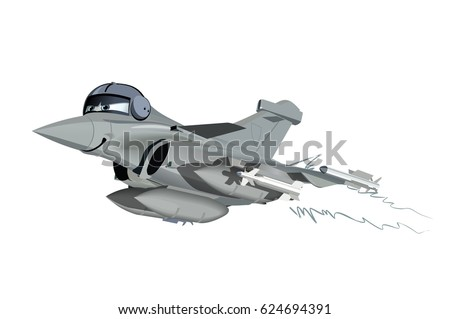 vector cartoon fighter plane available eps 10 vector format separated by groups and layers