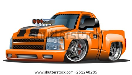 Vector cartoon Hot Rod. Available EPS-10 format separated by groups for easy edit - stock vector