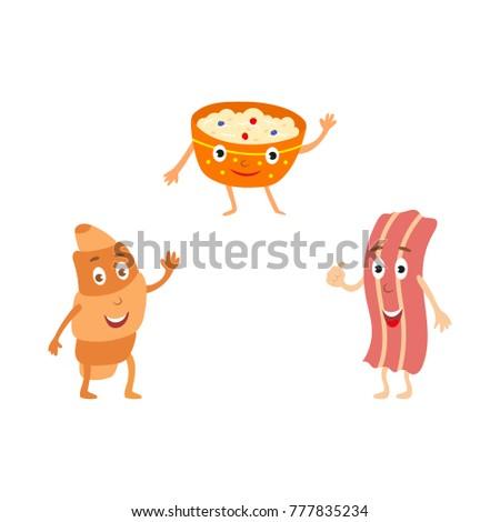 Cartoon Bacon With A Face