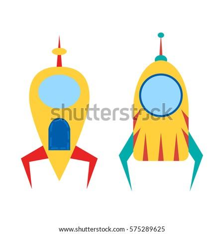 Spacecraft Stock Vectors, Images & Vector Art | Shutterstock