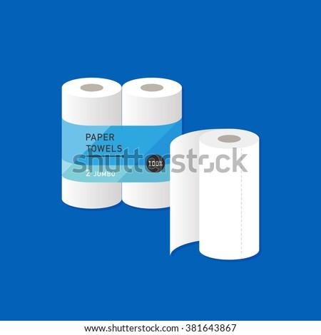vector cartoon kitchen paper towel package stock vector 381643867 shutterstock. Black Bedroom Furniture Sets. Home Design Ideas