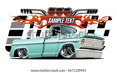 Vector cartoon Lowrider. EPS-10 separated by groups and layers with transparency effects for one-click repaint