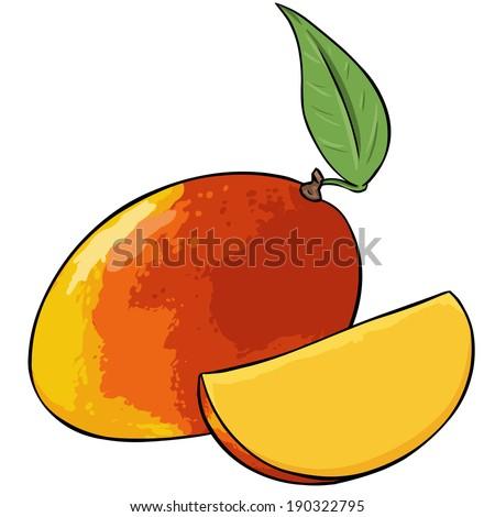 Vector Cartoon Mango - stock vector