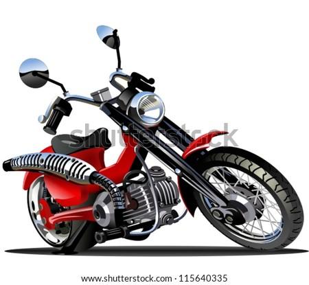 Vector Cartoon Motorcycle - stock vector