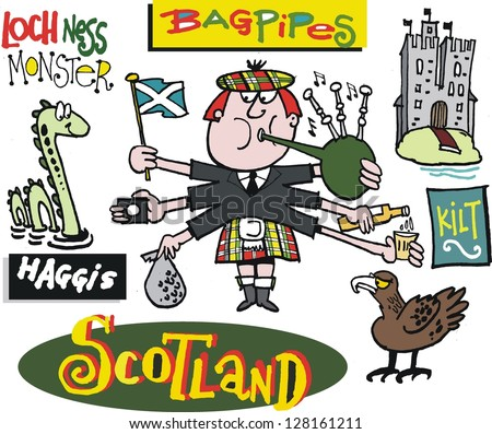 Scotsman Logo Vector Vector Cartoon of Scotsman