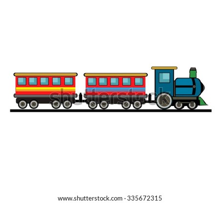Vector Cartoon Train - stock vector