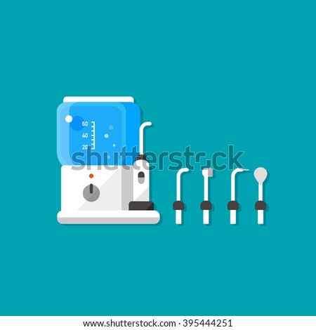 water jet machine stock photos royalty images vectors vector cartoon water flosser teeth brushing machine electric toothbrush extensible brushes isolated