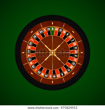 Vector Casino Gambling Roulette Wheel.