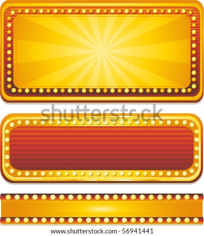 Vector casino neon sign - stock vector
