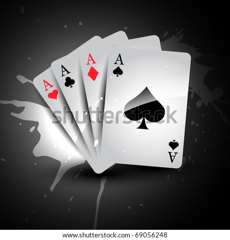 vector casino playing card set of four