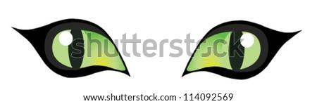 vector cat's eyes - stock vector