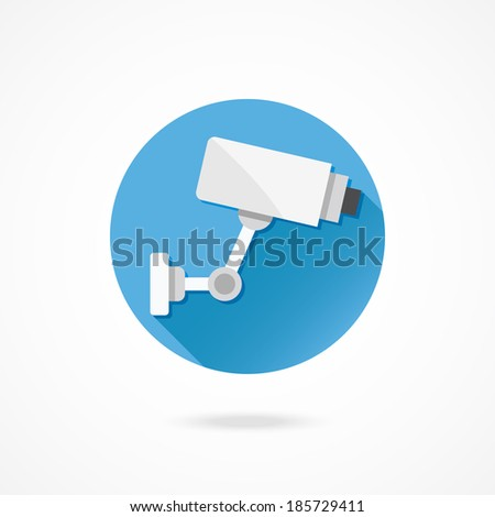Vector CCTV Video Surveillance Camera - stock vector