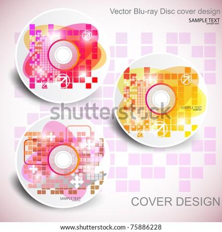 Vector CD cover design. Editable templates. - stock vector