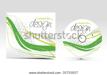 vector cd cover design template with copy space - stock vector