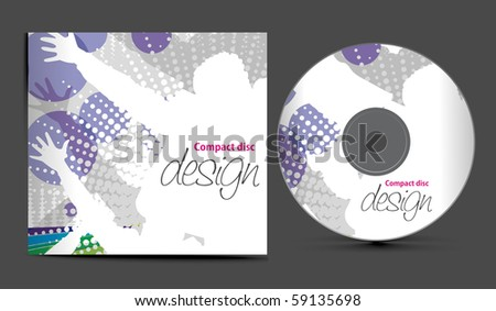 vector cd cover design template with copy space, vector illustration - stock vector