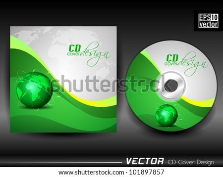 Vector Cd Cover Design Globe Green Stock Vector 101897857 ...