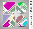 Vector cd cover  set for your design, vintage abstract Illustration. - stock