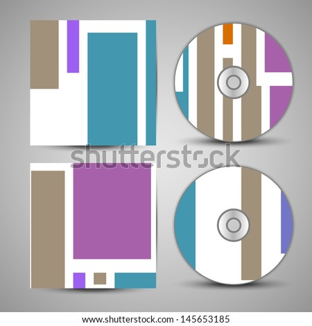 Vector cd cover  set for your design, vintage abstract Illustration.