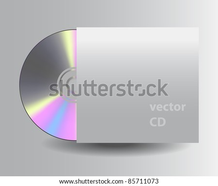 Vector CD disk - stock vector