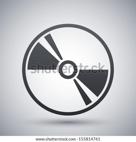 Vector CD or DVD icon - stock vector