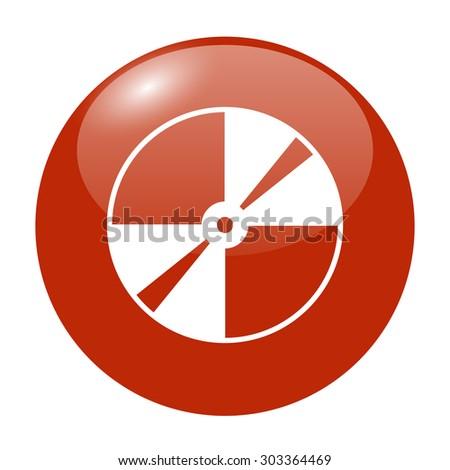 Vector CD or DVD icon. Flat design style eps 10 - stock vector