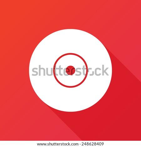 Vector CD or DVD icon. Long shadow - stock vector