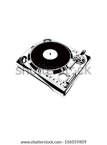 Vector cd-player - stock vector