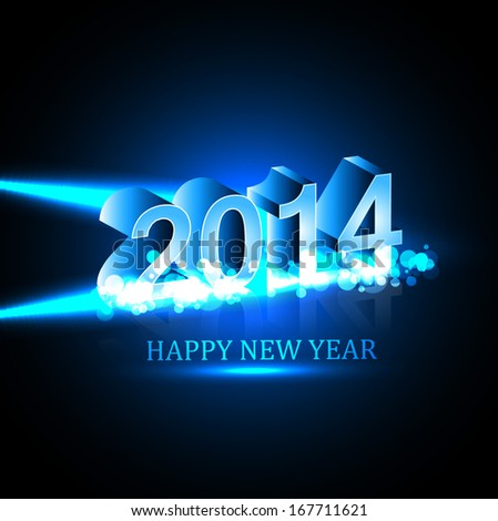 Vector Celebration holiday Happy new Year 2014 background