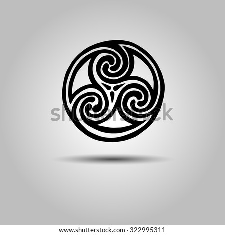 vector celtic sign design symbol element abstract knot icon tattoo - stock vector