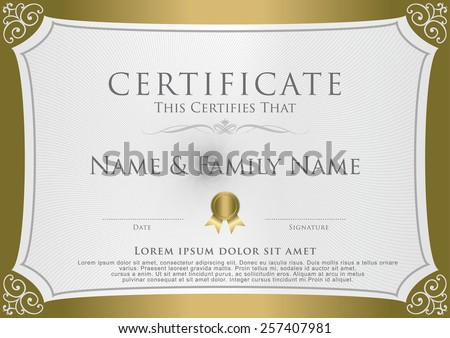 Vector Certificate Design Template illustration.