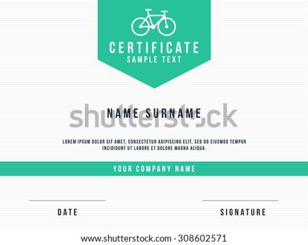 Vector Certificate Minimalism Template Design - stock vector