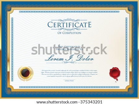 Vector certificate or diploma template - stock vector