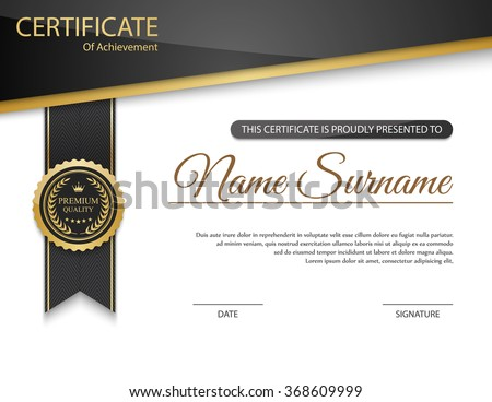 Certificate Template Stock Images, Royalty-Free Images & Vectors ...