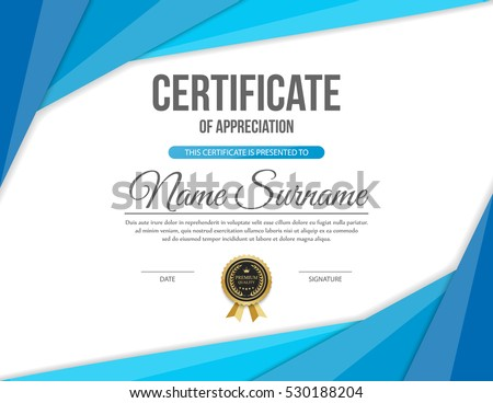 vector certificate template stock vector royalty free 530188204