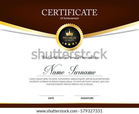 Vector Certificate Template Stock Vector 579327331 Shutterstock