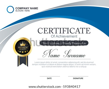 Template Of Certificates