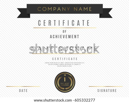 Vector certificate template design luxury best stock vector vector certificate template design with luxury best company award yadclub Choice Image
