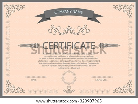 Vector certificate template eps 10 illustration