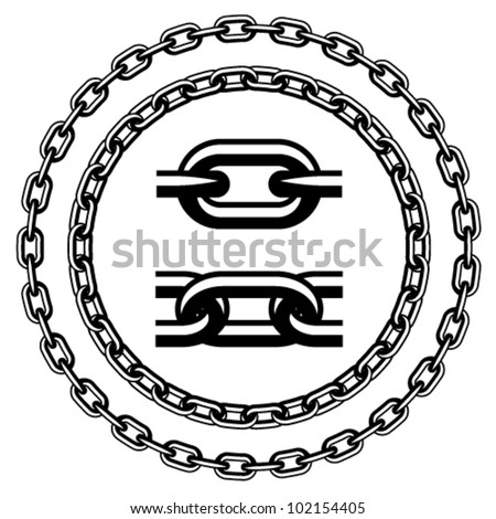 vector chain seamless silhouettes - stock vector