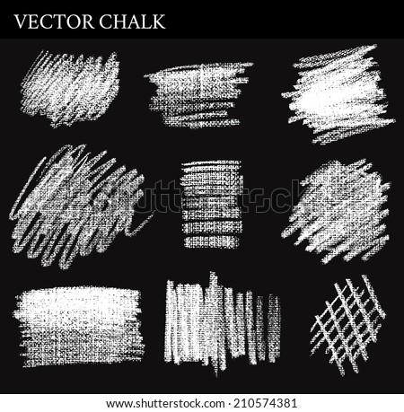 Vector Chalk Tone Value. Hand drawn illustration. - stock vector