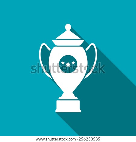 Vector Champions Cup symbol with stars on blue background - stock vector