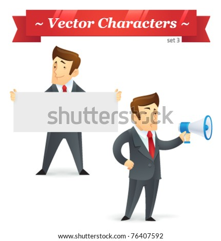 Vector characters. Business Set 3. - stock vector