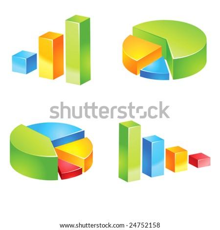 vector charts - stock vector