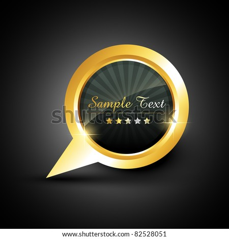 vector chat label style bubble with your text - stock vector