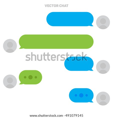 Vector Chat. Messager Interface. Digital Talk. Meeting Vector Icon in Flat Style.