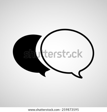 Vector chat sign icon. Speech bubble symbol.