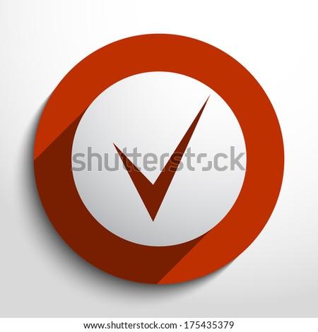 Vector check icon - stock vector