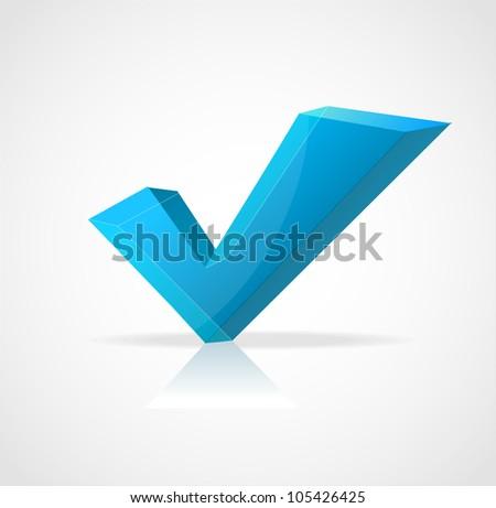 Vector check mark Yes - stock vector
