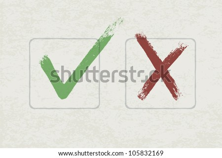 Vector check marks. EPS 10 - stock vector
