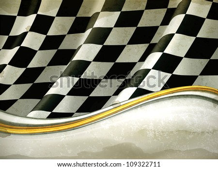 Vector Checkered Background, old-style vector - stock vector